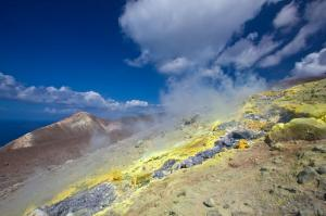 Volcanic sulfur - it looks prettier than it smells.