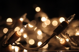 Christmas lights owe their glow to tungsten.