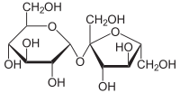 "Sucrose (""refined sugar"") is a unit of glucose joined to a unit of fructose"