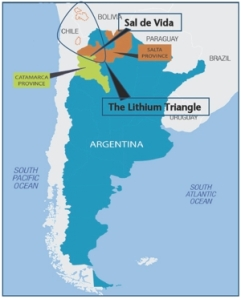 lithium triangle Salde Vida Map