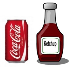 ketchup and coke