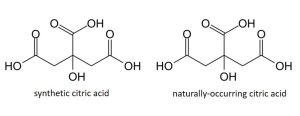 citric acid synthetic vs natural