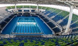 Rio 2016 Olympics Aquatics Stadium (Image: Myrtha Pools)