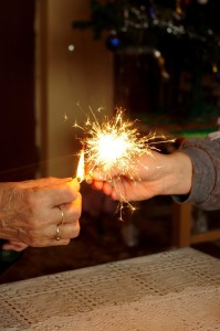 Sparklers are most dangerous once they've gone out.