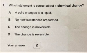 multiple choice exam question