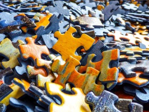 Photo of jigsaw pieces